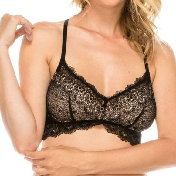 6a35b1f0dfa41 Ladies floral lace overlay bralette